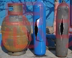 液化石油气钢瓶爆破试验